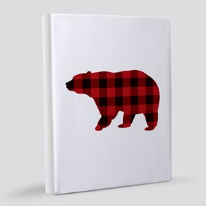 lumberjack buffalo plaid Bear 8x10 Canvas Print