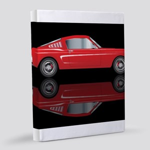 Very Fast Red Car 8x10 Canvas Print