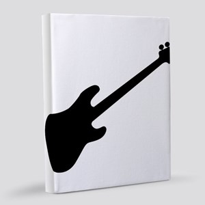 Bass Guitar Silhouette 8x10 Canvas Print