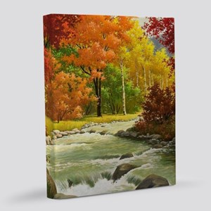 Autumn Landscape Painting 8x10 Canvas Print