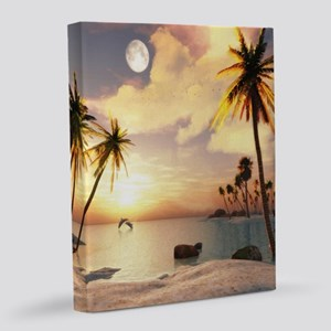 Tropical Beach 8x10 Canvas Print