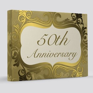 Fancy 50th Wedding Anniversary 8x10 Canvas Print