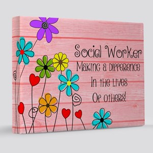 Social Worker Quote 8x10 Canvas Print