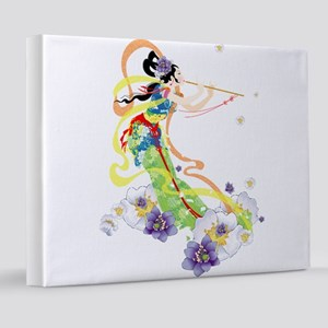 Oriental Girl 8x10 Canvas Print