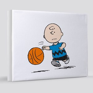 Basketballer Brown 8x10 Canvas Print