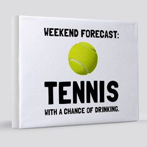 Weekend Forecast Tennis 8x10 Canvas Print