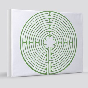 Chartres Labyrinth Green 8x10 Canvas Print