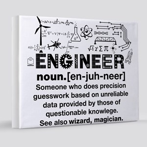 Engineer Funny Definition 8x10 Canvas Print