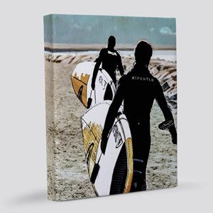 Surfers on the Move 8x10 Canvas Print