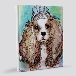 Princess! Puppy, dog, art! 8x10 Canvas Print