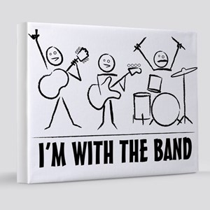 stickman band 8x10 Canvas Print