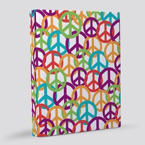 Colorful Peace Symbols 8x10 Canvas Print
