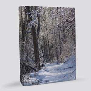 Icy Snow Trail 8x10 Canvas Print