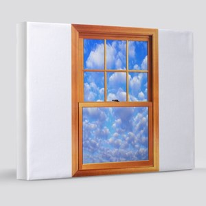 Fake Window Poster 8x10 Canvas Print