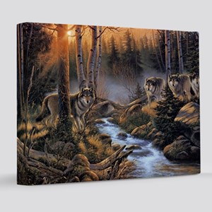 Forest Wolves 8x10 Canvas Print