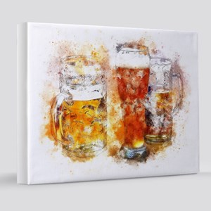 Abstract Watercolor Beer 8x10 Canvas Print