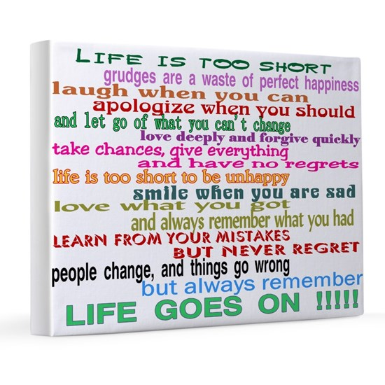 LIFE GOES ON 8x10 Canvas Print
