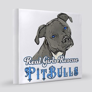 Real Girls Rescue Pitbulls 12x12 Canvas Print