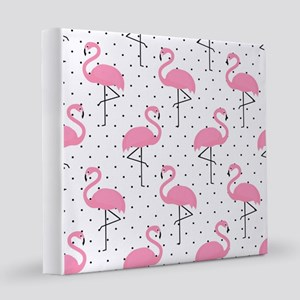 Cute Flamingo  12x12 Canvas Print