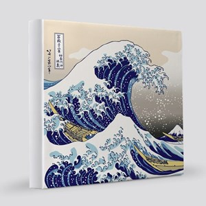 Hokusai_Great_WaveShowerCurtain2 12x12 Canvas Prin