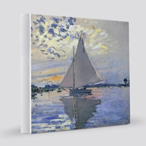 Claude Monet Sailboat 12x12 Canvas Print