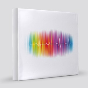 Gay Pride Pulse 12x12 Canvas Print