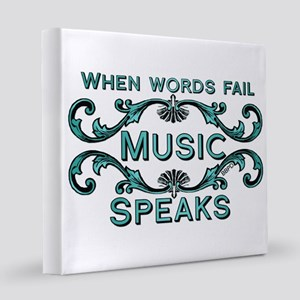 Music Speaks 12x12 Canvas Print