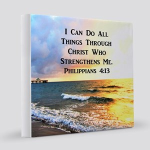 PHIL 4:13 MIRACLE 12x12 Canvas Print