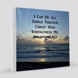 PHIL 4:13 BIBLE 12x12 Canvas Print