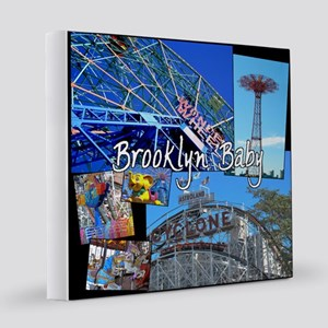 Coney Island Bklyn Baby 12x12 Canvas Print