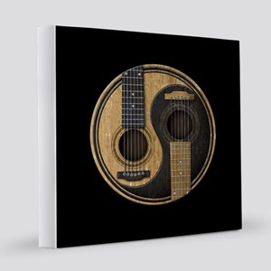 Old and Worn Acoustic Guitars Yin Yang 12x12 Canva