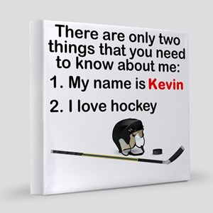 Two Things Hockey 12x12 Canvas Print