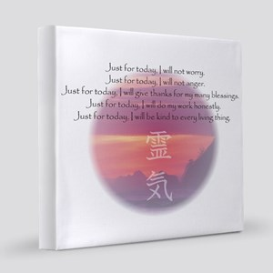 Reiki Principles 12x12 Canvas Print