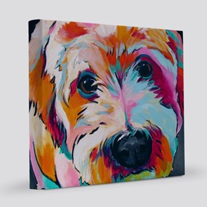 Wheaten Terrier Kirby Jane 12x12 Canvas Print