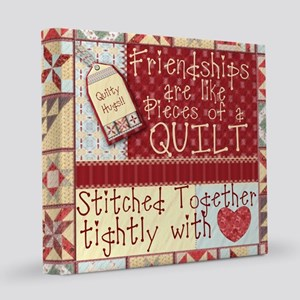 Quilting Friendships 12x12 Canvas Print
