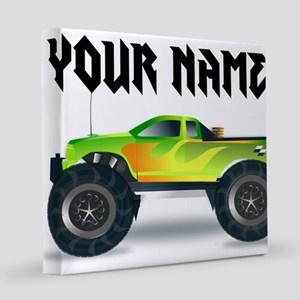 Personalized Monster Truck 12x12 Canvas Print