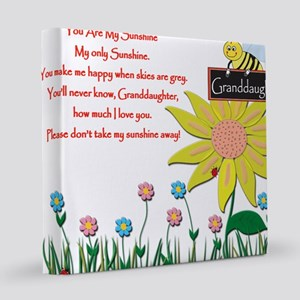 Granddaughter You are my sunshine_11x11_pillow 12x