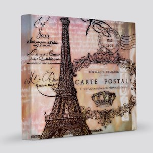 Eiffel tower collage 12x12 Canvas Print