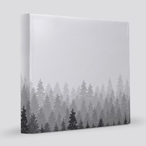 Gray Forest 12x12 Canvas Print