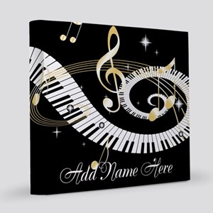 Personalized Piano Musical gi 12x12 Canvas Print