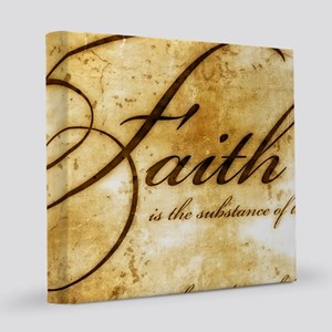 faith is gold vintage 12x12 Canvas Print