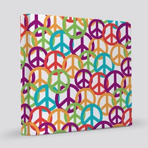 Colorful Peace Symbols 12x12 Canvas Print