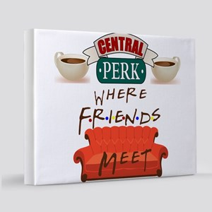 Central Perk and Friends 11x14 Canvas Print