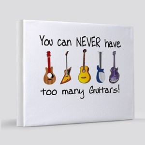 Too many guitars 11x14 Canvas Print