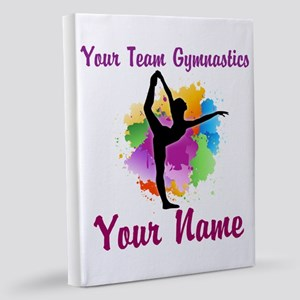Customizable Gymnastics Team 11x14 Canvas Print