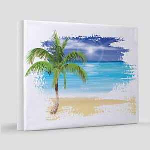 Beach Scene 11x14 Canvas Print