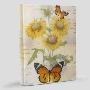 Sunflowers and butterflies 11x14 Canvas Print