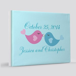 Wedding Anniversary Birds 11x14 Canvas Print