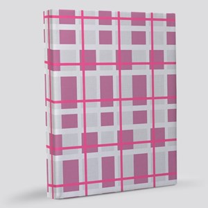Pink and Gray Plaid 11x14 Canvas Print