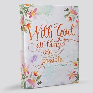 With God 11x14 Canvas Print